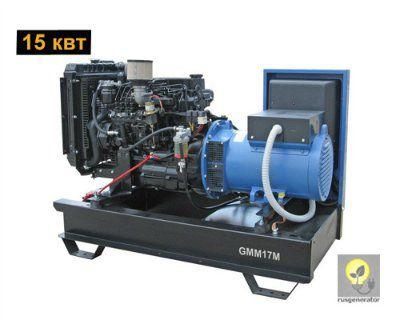 Дизельный генератор 15 кВт GMGEN GMM17M (Дизель-генератор 15 квт GMGEN GMM 17M), электростанция однофазная 220/230 вольт.