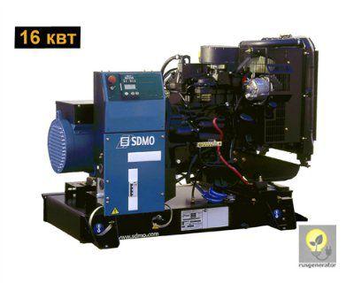 Дизельный генератор 15 кВт SDMO J22 (Дизельная электростанция 15 квт SDMO MONTANA J 22), генератор трехфазный 230/380 вольт.