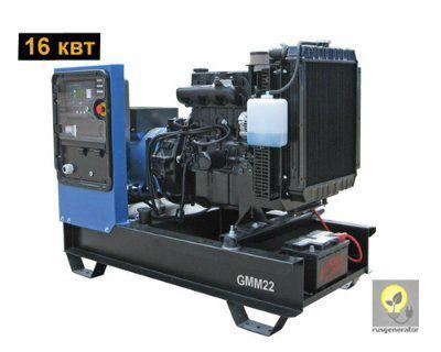 Дизельный генератор 15 кВт GMGEN GMM22 (Дизельная электростанция 15 квт GMGEN GMM 22), генератор трехфазный 230/380 вольт.