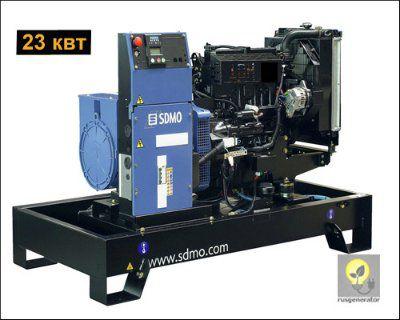Дизельный генератор 20 квт SDMO T25C2M (Дизель-генератор SDMO PACIFIC T25 C2M), электростанция однофазная 220/230 вольт.