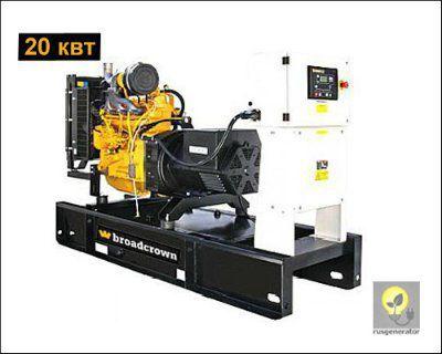 Дизельный генератор 20 квт BROADCROWN BCJD30 (Дизель-генератор 20 квт BROADCROWN BCJD 30-50), электростанция трехфазная 230/380 вольт.