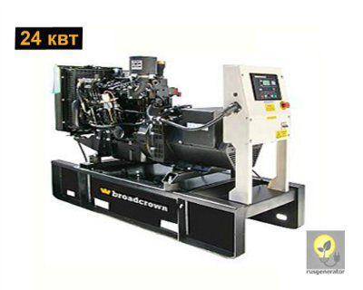 Дизельный генератор 25 кВт BROADCROWN BCM33 (Дизель-генератор 25 квт BROADCROWN BCM 33-50), электростанция трехфазная 230/380 вольт.