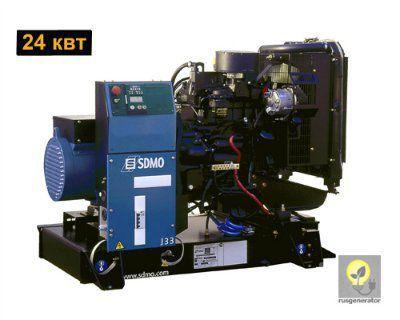 Дизельный генератор 25 кВт SDMO J33 (Электростанция 25 квт SDMO MONTANA J 33), генератор трехфазный 230/380 вольт.