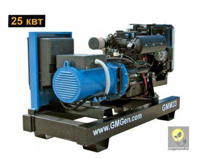 Дизельный генератор 25 кВт GMGEN GMM33 (Дизельная электростанция 25 квт GMGEN GMM 33), генератор трехфазный 230/380 вольт.