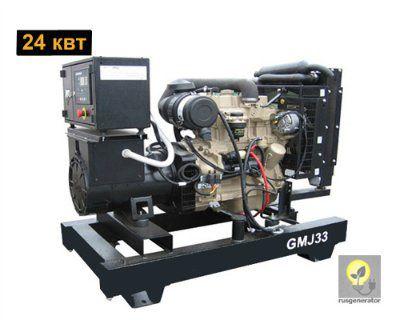 Дизельный генератор 25 кВт GMGEN GMJ33 (Дизель-генератор 25 квт GMGEN GMJ 33), электростанция трехфазная 230/380 вольт.