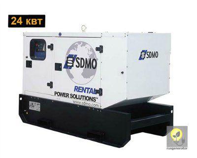 Дизельный генератор 25 кВт SDMO R33C2 (Дизельная электростанция 25 квт SDMO RENTAL R33 С2), генератор трехфазный 230/380 вольт.
