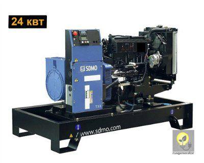 Дизельный генератор 25 кВт SDMO T33K (Дизель-генератор 25 квт SDMO PACIFIC T33 K), электростанция трехфазная 230/380 вольт.