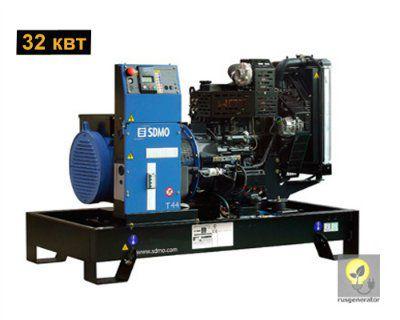 Дизельный генератор 30 кВт SDMO T44K (Электростанция 30 квт SDMO PACIFIC T44 K), генератор трехфазный 230/380 вольт.