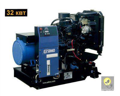 Дизельный генератор 30 кВт SDMO J44K (Дизельная электростанция 30 квт SDMO MONTANA J44 K), генератор трехфазный 230/380 вольт.
