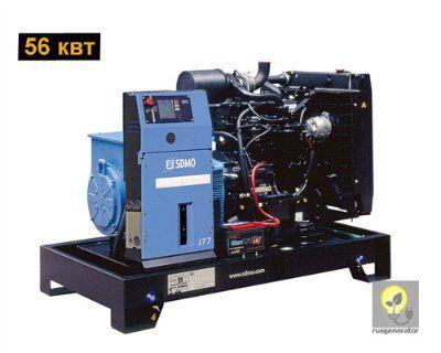 Дизель-генератор 50 квт SDMO J77K (Дизельный генератор 50 квт SDMO MONTANA J77 K), генератор трехфазный 230/380 вольт.