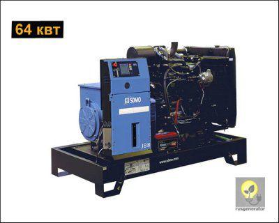 Дизель-генератор 65 квт SDMO J88K (Дизельная электростанция 65 квт SDMO MONTANA J88 K) генератор трехфазный 230/380 вольт.