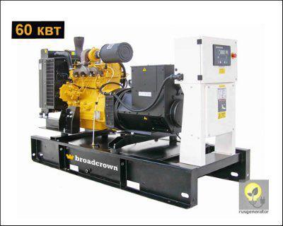 Дизель-генератор 60 кВт BROADCROWN BCJD 90 (Электростанция 60 квт BROADCROWN BCJD 90), генератор трехфазный 230/380 вольт.