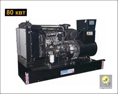 Дизель-генератор 80 квт WELLAND WP100 (Электростанция 80 квт WELLAND POWER WP 100), генератор трехфазный 230/380 вольт.