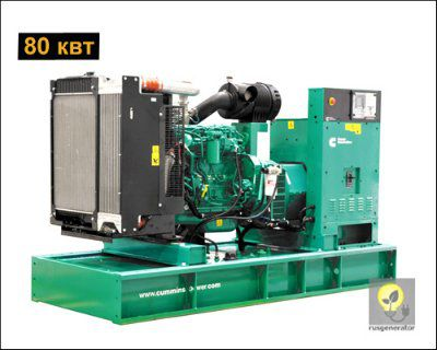 Дизель-генератор 80 квт CUMMINS C110D5 (Электростанция 80 квт CUMMINS C110 D5), генератор трехфазный 230/380 вольт.