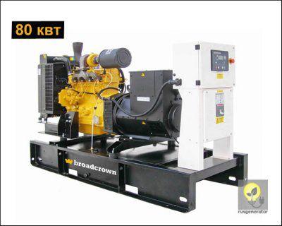 Дизель-генератор 80 кВт BROADCROWN BCJD 110 (Электростанция 80 квт BROADCROWN BCJD 110-50), генератор трехфазный 230/380 вольт.