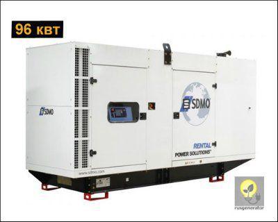 Дизель-генератор 100 квт SDMO R135C2 (Электростанция 100 квт SDMO RENTAL R135 C2), генератор трехфазный 230/380 вольт.