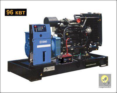 Дизель-генератор 100 квт SDMO J130K (Дизельная электростанция 100 квт SDMO MONTANA J130 K), генератор трехфазный 230/380 вольт.