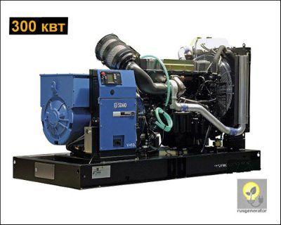 Дизельная электростанция 300 кВт SDMO V410C2 (Генератор 300 квт SDMO ATLANTIС V410C2), электростанция трехфазная 230/380 вольт.