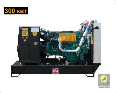 Дизельная электростанция 300 кВт ONIS VISA V380 (Дизель-генератор 300 квт, ONIS VISA V 380 B), генератор трехфазный 230/380 вольт.