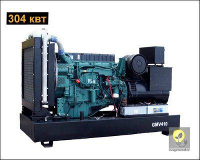 Дизельная электростанция 300 квт GMGEN GMV410 (Дизель-генератор 300 квт GMGEN GMV 410), генератор трехфазный 230/380 вольт.