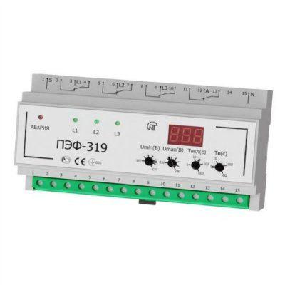 Универсальный автоматический электронный переключатель фаз ПЭФ-319