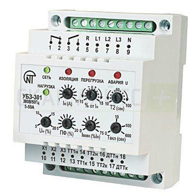 Универсальный блок защиты электродвигателей УБЗ-301 5-50 А