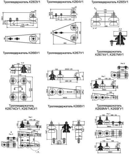 Кронштейн троллейный К-42. Собственное производство. Сделаем дешевле всех.