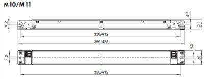Электронный пускорегулирующий аппарат (ЭПРА/ дроссель/ балласт) ELXc 240.863 188616 для люминесцентных ламп: T5 2x24/39W, КЛЛ (TC-L/F) 2x18/24/36W, TC-L 2x40W. Vossloh-Schwabe, Германия