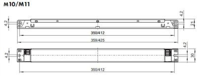 Электронный пускорегулирующий аппарат (ЭПРА/ дроссель/ балласт) ELXc 235.857 188094 ЭПРА для люминесцентных ламп T5 2x14/21/28/35W. Vossloh-Schwabe, Германия