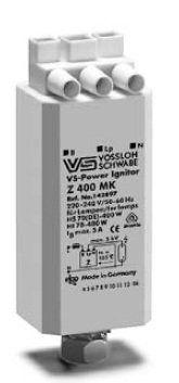Импульсное зажигающее устройство (ИЗУ, игнитор, IGNITOR) Z 250 S 140425 с автоматическим отключением для натриевых ламп высокого давления (HS, ДнАТ), металлогалогенных ламп (HI, МГЛ) 35-250W. Vossloh-Schwabe, Германия