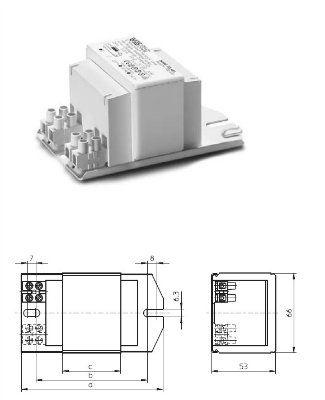 Электромагнитный ПРА (ЭмПРА / дроссель / балласт) NaHJ 150.159 533602 для натриевых и металлогалогенных ламп 150W. Vossloh-Schwabe (Германия)