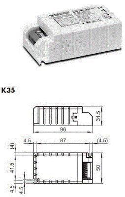 Электронный ПРА (ЭПРА/ дроссель/ балласт) EHXc 20G.329 B 188742 для металлогалогенных ламп 20W. Vossloh-Schwabe, Германия.