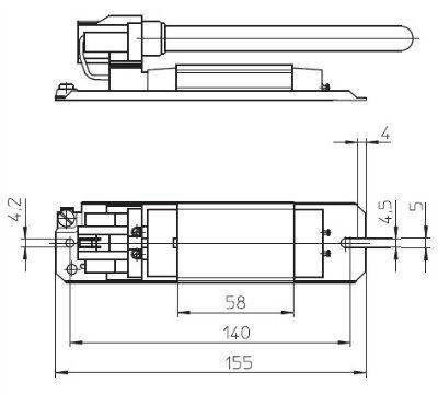 Электромагнитный ПРА ( ЭмПРА / дроссель / балласт) L 7/9/11.141 163148 для компактных люминесцентных ламп (КЛЛ ) с патроном G23. Vossloh-Schwabe (Германия).