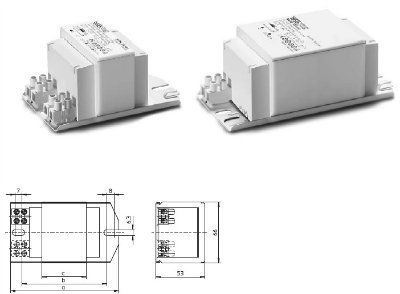 Электромагнитный ПРА (ЭмПРА / дроссель / балласт) NaHJ 250.204 529087 для натриевых и металлогалогенных ламп 250W. Vossloh-Schwabe (Германия)