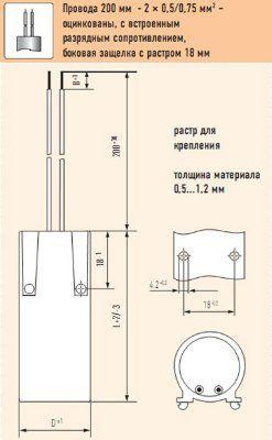 Конденсатор компенсирующий 45 mF (мкФ) 250V E01.F19-4045N0/220021 в пластиковом корпусе, подсоединение провод 200 мм, DxH 45x119мм, крепление болт М8. Electronicon, Германия.