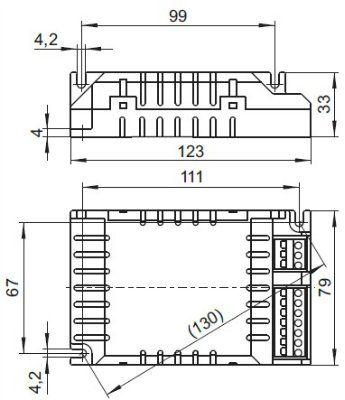 Электронный пускорегулирующий аппарат (ЭПРА/ дроссель/ балласт) ELXc 155.378 188680 для КЛЛ TC-L 1x55/80W, T-R5 1x55/60W. Vossloh-Schwabe, Германия