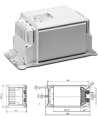 Электромагнитный ПРА (ЭмПРА / дроссель / балласт) NaHJ 1000.089 534487 для натриевых и металлогалогенных ламп 1000W. Vossloh-Schwabe (Германия)