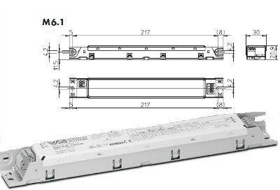 Электронный пускорегулирующий аппарат (ЭПРА/ дроссель/ балласт) ELXc 135.220 188921 для ЛЛ T5 1x14/21/28/35W. (Vossloh-Schwabe, Германия)