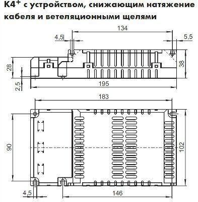 Электронный пускорегулирующий аппарат (ЭПРА/ дроссель/ балласт) ELXc 120.838 188238 для КЛЛ TC-TEL 1x60/85/120W, 2x60W. Vossloh-Schwabe, Германия