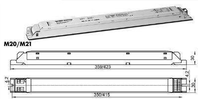 Электронный пускорегулирующий аппарат (ЭПРА/ дроссель/ балласт) ELXd 218.851 188083 1-10V Регулируемый с управлением по напряжению 1-10V(диммируемый) для для ЛЛ T8 2x18W. (Vossloh-Schwabe, Германия)