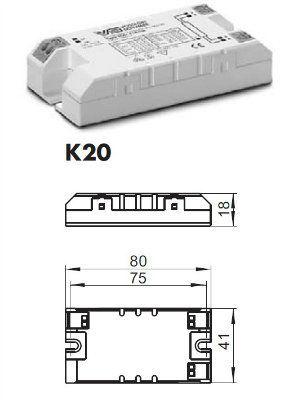 Электронный пускорегулирующий аппарат (ЭПРА/ дроссель/ балласт) ELXs 121.901 188663 для ЛЛ T5 1x14/21W, TC-DEL/TEL 1x13/18W. Суперкомпактный корпус. (Vossloh-Schwabe, Германия)