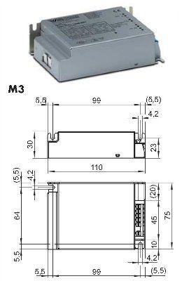 Драйвер (блок питания) ECXe 700.022 220-240V 186200 (ECXe 700mA/40W 186200) для LED источников света (светодиодных светильников) 14-40W, 700 mA. Vossloh-Schwabe (Германия)