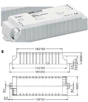 Блок питания (Электронный конвертер) EDXe 170/24.010 186103 для LED модулей (светодиодов, светодиожных лент) 24V, 0–70 Вт. Vossloh-Schwabe (Германия).