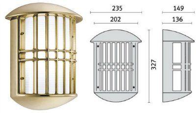 Cветильник ADMIRAL 006940 пылевлагозащищённый настенный (PRISMA, Италия), IP 65