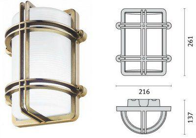 Cветильник CLIPPER GUARD 006950 пылевлагозащищённый настенный или потолочный (PRISMA, Италия), IP 65