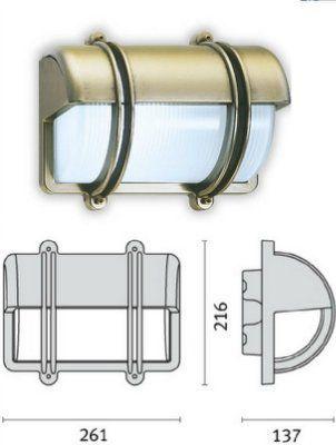 Cветильник CLIPPER VISA 006951 пылевлагозащищённый настенный (PRISMA, Италия), IP 65