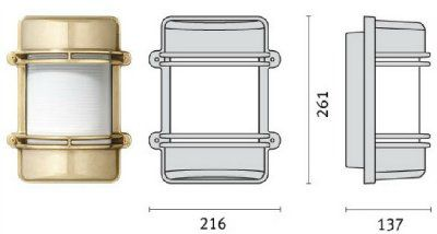 Cветильник CLIPPER SPLIT 006952 пылевлагозащищённый настенный (PRISMA, Италия), IP 65
