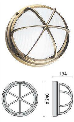 Cветильник MARO'/G CHROME 006969 пылевлагозащищённый настенный или потолочный (PRISMA, Италия), IP 65