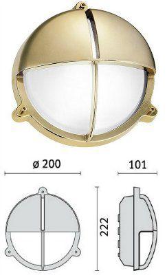 Cветильник TARTARUGA TONDA 100 VISA, 007608, пылевлагозащищённый настенный (PRISMA, Италия), IP 65