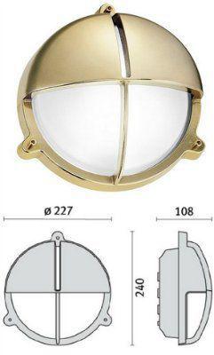 Cветильник TARTARUGA TONDA 200 VISA 007609, пылевлагозащищённый настенный (PRISMA, Италия), IP 65